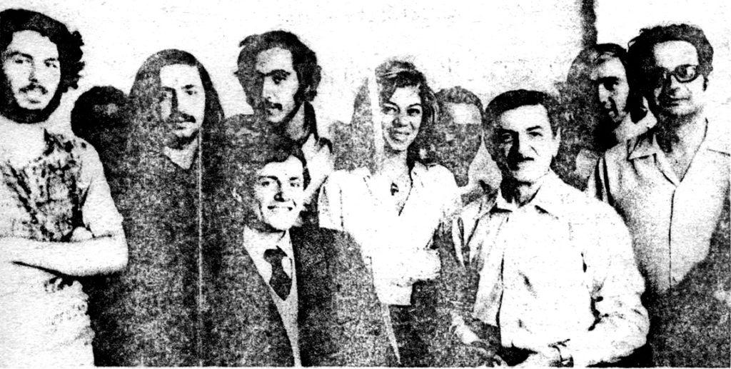 Dönüşüm grubu Bakü Filarmoniası'nda - (Sağdan) Faruk Kakınç, Aykut Şener, Azerbaycan Kompozitörü ve Orkestra şefi Niyazi Tagizade, Nida Eskin, Esin Afşar, Vecdi Ören, Oruç Güvenç, Halit Kakınç, Orhan Topçuoğlu.