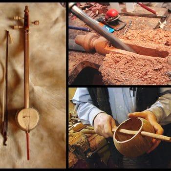 Rebab imalatından görüntüler