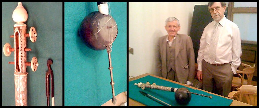 """Viyana'daki """"Museum der Wiener Musikfreun"""" müzesinde bulunan tarihi rebab."""